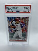 2019 TOPPS UPDATE CARTER KIEBOOM BATTING ROOKIE US109 PSA 10 GEM MINT NATS RC