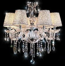 Crystal Chandelier Lampshade 6-Light Ceiling Pendant Lighting Fixture Home EW