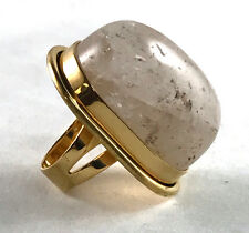 Saint Laurent Bague Cherry gold-plated quartz ring size 6 $595 YSL