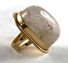 Saint Laurent Bague Cherry gold-plated quartz ring size 6 $595 YSL