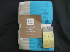1 POTTERY BARN TEEN SO CAL SURF  PATCHWORK SHAM EURO MULTI  BOYS NEW NLA