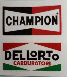 Champion Dellorto Car Vespa Scooter Camper Van Decal Sticker