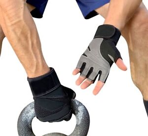 Fitness Gloves Weight Lifting Gym Workout Training Weightlifting Power Men Women