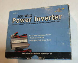 Aims 400 Watt power invertor with cables 12 volts