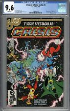 Crisis On Infinite Earths #1 CGC 9.6 NM+ 1st Appearance of Blue Beetle WHITE
