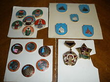 lot vintage Russian Soviet Union pins Toy Museum, castles, military ?