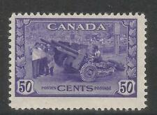 Canada 1942-43 King George VI 50c Weapons Factory--Attractive Topical (261) MH