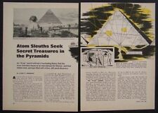 Pyramid of Chephren X-Ray search for Treasure 1967 pictorial article
