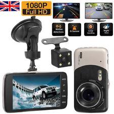 "Dual Lens Camera HD 1080P 170° LCD Car DVR Video Dash Cam Front Rear Recorder 4"""