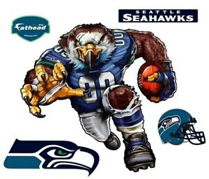 Fathead Seattle Seahawks Sinister Seahawk Wall Graphic. Appox 40Wx39Tall.