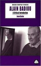 Alain Badiou: A Critical Introduction (Modern European