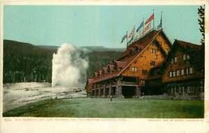 Postcard Old Faithful & Old Faithful Inn, Yellowstone National Park - DPC