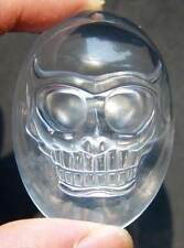 A++ 48mm Natural Clear Quartz Rock Chatoyant Crystal Skull Pendant