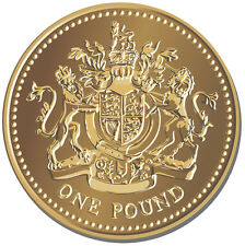 One Pound Coin Round Mouse Mat. British Sterling Money Coin Tails Mouse pad