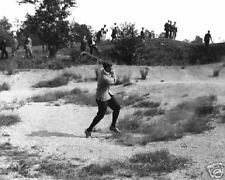 Francis Ouimet 1921 swinging out of the sand golf photo
