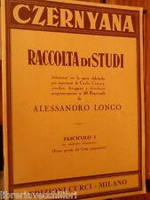 RACCOLTA DI STUDI Carlo Czerny Alessandro Longo Fascicolo 1 Edizioni Curci di e