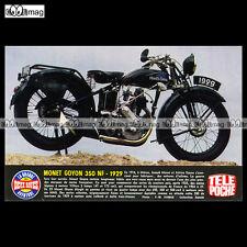 #TP Fiche Moto MONET GOYON 350 NF 1929 (Classic Motorcycle)
