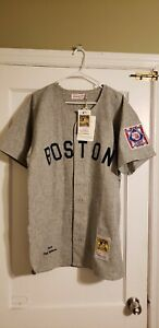 100% Authentic Ted Williams Mitchell & Ness 1939 Red Sox Jersey Size 48 XL New