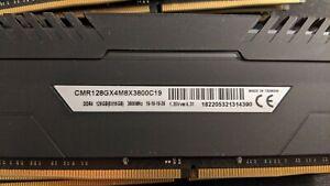 Corsair VENGEANCE RGB PRO 128GB (8x16GB) DDR4 DRAM 3800MHz C19 Memory Kit