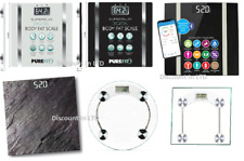 180kg Digital LCD Electronic Glass Body Fat Bluetooth Bathroom Weighing Scale