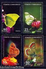 Turkey MNH 4v, Butterlies, Insects, Environment  -  Bi10