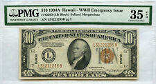 1934-A Hawaii $10 WWII Emergency Issue Federal Reserve Note PMG 35