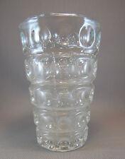 Antiguo jarrón de vidrio soplado arte decoración vintage estilo años 70 french