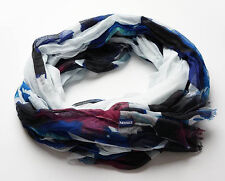 NEW FAT FACE BLUE PURPLE WHITE BIG FLOWER SCARF