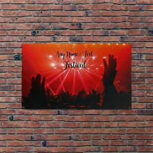 Personalised Red Dance Festival Design 5x3ft Banner