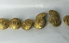More details for 8 x argyle & sutherland highlanders blazer buttons 23 mm gilt frosted  1980's