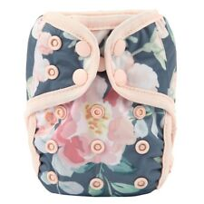 2018 NEWBORN Cloth Diaper Cover Baby Nappy Reusable Double Gusset 8-10lbs Floral