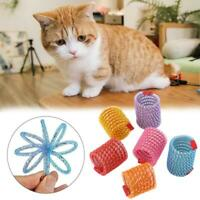 1X Pet Cat Dog Toy Plastic Flexible Spring Cats Interactive Teasing Toys