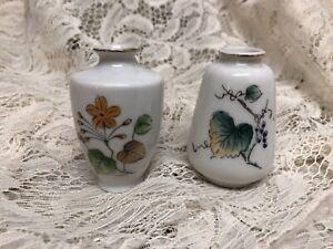"""Pair of Vintage Mini Vase Urns  """"Made in Japan"""" 2 1/2' High"""