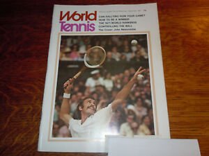 "VINTAGE DECEMBER 1971 "" WORLD  TENNIS "" MAGAZINE"