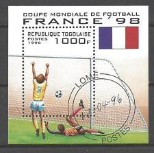 Football Togo (30) bloc oblitéré