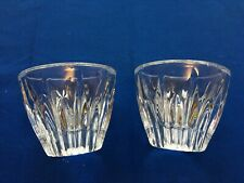 Pair of Leaded Crystal Votive Candle Holders - could be Lenox or Mikasa?