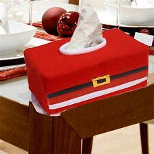 Christmas Rectangle Applique Tissue Box Cover Paper Holder Home Table Dec BIN