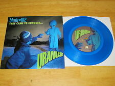 """BLINK 182 They Came To Conquer Uranus 7"""" BLUE VINYL rare UNPLAYED"""