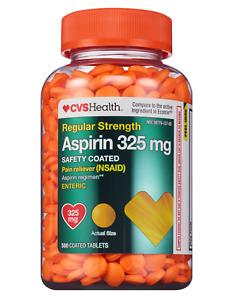 CVS Health Regular Strength Aspirin 325 mg Enteric Coated Tablets 500 CT