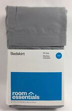 Room Essentials Bed Skirt Solid Gray 14 Inch Drop Twin Size 0299
