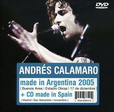 Andrés Calamaro, And - Made in Argentina (CD+DVD) [New CD] Argentina