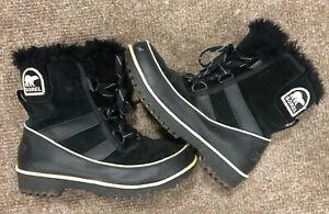 Sorel Winter Boots, Size 3, Womens Or Older Kids, Black, Genuine, Free P&P