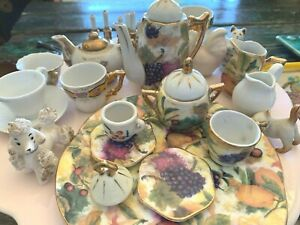 Selection of Porcelain tea sets NYC vintage teapot  and animals