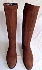 Femmes Italien Hautes en Daim Marron Bottes en cuir Taille 3/36 en bon escroc.