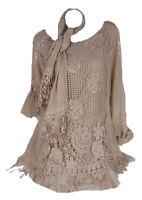 Noble 3tlg Hiver Mohair tricot tunique robe pull 40 42 44 46 bleu twinset