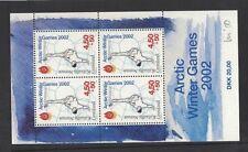 2001 Greenland Arctic Winter Games Sg Ms 389 Muh