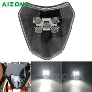 Motorcycle LED Headlight Head Lamp for SX XC SXF EXC Enduro Dirt Bike Black