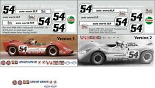 1:24 Decals for The Autoworld McLaren Mk.6 CanAm car SEE TEXT 2 versions