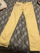 """Replay Ladies Skinny Jeans 27"""" Brand New With Tags Yellow"""