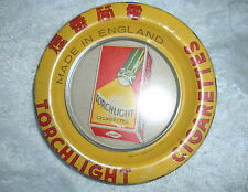 AD-007 - Torchlight Cigarettes Advertising Tip Tray Flashlight Theme Vintage